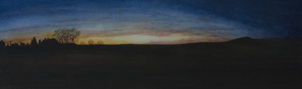 zonsondergang Thommen